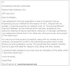 How to write an application letter scholarship