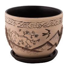 <b>Горшок керамический</b> Хаконэ, серый, диаметр 15 см - купите по ...