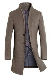 <b>Mens Casual Coats</b> Warm Winter Stand Collar <b>Jackets</b> Outwear Men ...