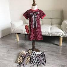 Girls Designer Dresses <b>2019 New</b> Luxury FF Dress <b>College Style</b> ...