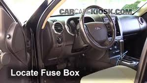 2007 2010 ford explorer sport trac interior fuse check 2008 ford locate interior fuse box and remove cover
