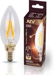 <b>Лампочка REV Deco</b> Premium Filament С37, Холодный свет, E14 ...