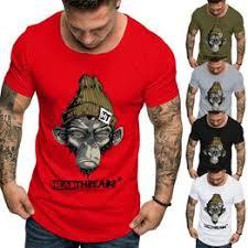2019 Summer Fashion Mobile Monkey Print Men's t shirts ... - Vova