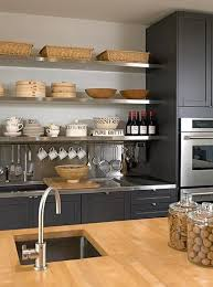 upper kitchen cabinets pbjstories screenbshotb: charcoal cabinets wood countertop google search