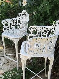 <b>Vintage Victorian</b> White Ornate <b>Wrought Iron</b> Chair Indoor or ...