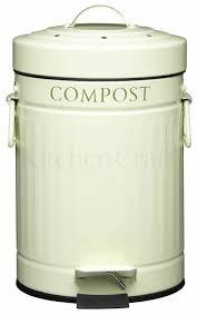 kitchen caddy cream kitchen craft  litre cream steel kitchen compost bin food waste caddy