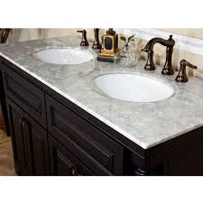 55 inch double sink bathroom vanity: bellaterra home a double sink bathroom vanity top