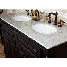 55 inch double sink bathroom vanity: bellaterra home a double sink bathroom vanity top