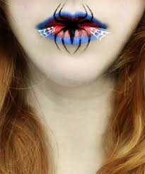 spiderman seems to have cast his web of love on these lips you 39 re forever his from stunning and creepy lip designs for by eva pernas