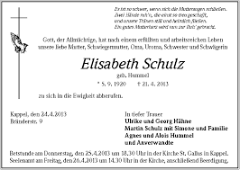 Elisabeth Schulz - Trauer - Traueranzeigen \u0026amp; Nachrufe - badische- - 111559666-p-1024_768