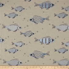 decor linen fabric multiuse: golding by p kaufmann fish tales blue linen fabric