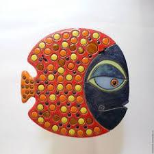<b>Керамическое панно</b> «Рыба <b>в</b> горошек» <b>ceramic</b> plate Andrey ...