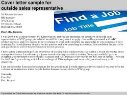cover letter sample for outside sales representative sales rep cover letter