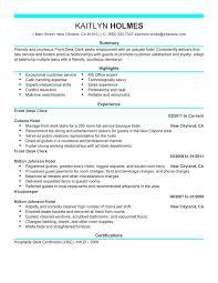 Unforgettable Front Desk Clerk Resume Examples to Stand Out ... Front Desk Clerk Resume Sample
