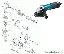 Инструкция по ремонту болгарки <b>Makita</b>