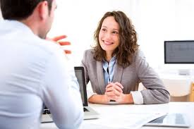 an administrative assistant job candidate interviews with a hiring manager administrative assistant