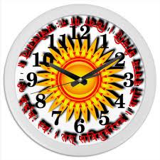 <b>Часы круглые из</b> пластика Твой солнечный миг #2633532 от ...