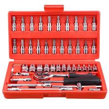 Dropshipping for <b>46pcs Car</b> Repair Tool Socket Set <b>Ratchet</b> Wrench ...
