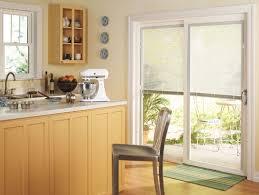 glass door window treatments kitchen