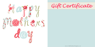 mother s day gift certificate templates printable mothers day gift idea customize