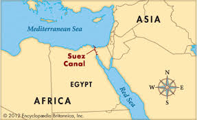 Image result for map of egypt before suez canal