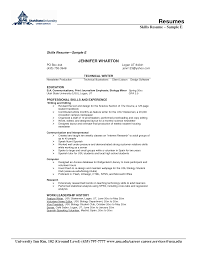 resume skills section sample  seangarrette co   skill resume sample culinary resume skills examples sample resume   resume skills section sample