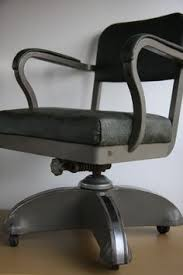 industrial office chair. vtg machine age mid century modern retro industrial tanker desk office chair a