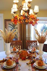 fall table decorations brown
