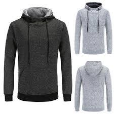 US <b>Mens</b> Long Sleeve <b>Casual Hooded Hoodie Sweatshirts</b> Thick ...