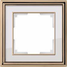 <b>Рамка Werkel</b> Palacio на 1 пост золото/белый WL17-Frame-01 ...