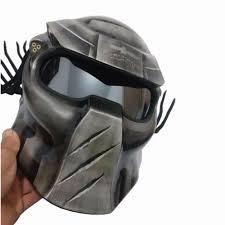 <b>Quality</b> Helmet MASEI IRONMAN Grey <b>Predators</b> mask fiberglass ...