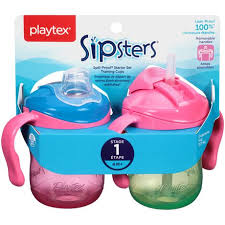 Playtex <b>Baby</b> Sipsters <b>Spill</b>-<b>Proof</b> Removable Handle Training Cup ...