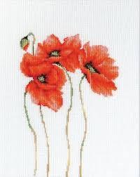 Poppies 2 Cross Stitch <b>Kit</b> (с изображениями)   Вышивание ...