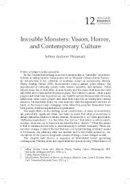 Invisible Monsters: <b>Vision</b>, <b>Horror</b>, and Contemporary Culture ...