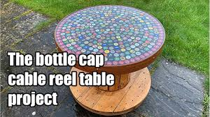 Building a <b>beer</b> bottle cap cable reel <b>table</b> using bottle tops and ...