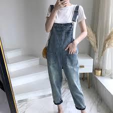 <b>Spring</b> New <b>Vintage</b> Solid Color Denim Jumpsuits Women Fashion ...