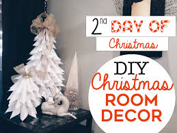 tree wall decor art youtube:  easy christmas room decor diys nd day of christmas diy christmas trees for small spaces youtube