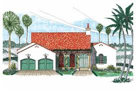 Eplans Spanish House Plan   Simple Elegance of Spanish Colonial    Front