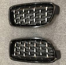 <b>A Pair Front Kidney</b> Grille For BMW X5 X6 F15 F16 Diamond Grille ...