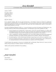 operations manager cover letter  cover letter templates