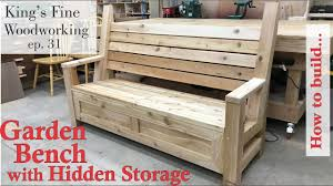 31 - How to Build Garden <b>Bench</b> with a Hidden <b>Storage Compartment</b>