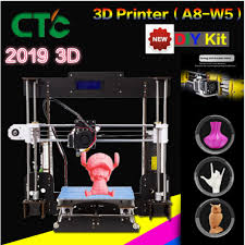 <b>CTC A8 3D Printer</b> High Accuracy Desktop Prusa i3 DIY Kit LCD ...