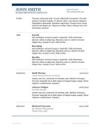 50 free microsoft word resume templates for download free online resume template download