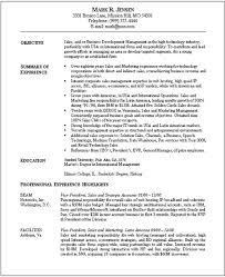 Senior Sales Executive Resume Sales Resume Account Management