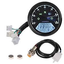 Sdootauto Motorcycle Speedometer Tachometer MPH ... - Amazon.com