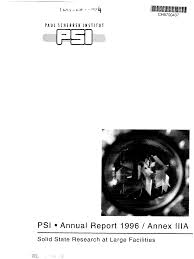 PSI • Annual Report 1996 / Annex IMA
