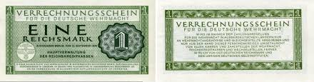 world war ii coins and currency world war ii german military currency german wehrmacht military currency 1 reichsmark 1944 pm38