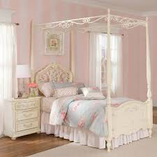 wonderful girl room design by rosenberry rooms with white pergola bed on wooden floor with white amazing white kids poster bedroom furniture