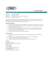 Sample Resume For Food And Beverage Supervisor Resume For Your