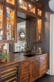 antiqued mirror backsplash home bar transitional with cabinet lighting cabinet lighting sunburst mirror cabinet lighting backsplash home